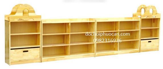 Tủ giá kệ gỗ tự nhiên - PA33