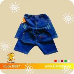 Quần Jean Babiboo Kid's in chuyển nhiệt BB27
