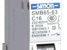 Cầu dao điện dạng tép loại 1P SIMON