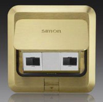Ổ cắm âm sàn Simon 2 ổ dữ liệu Cat.5e