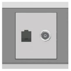 Ổ cắm mạng + TV ArtDNA E9-19