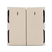 Hạt công tắc LED đôi 2 chiều ArtDNA A77-H22