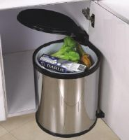 Thùng rác INOX tủ bếp nắp xoay B01