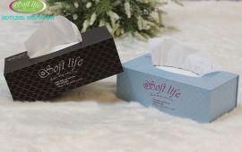 Hộp khăn giấy lụa Soft Life những mẫu đẹp 2017