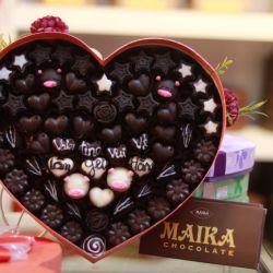 Socola Valentine hộp hình vuông