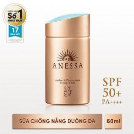 Kem chống nắng Anessa bảo vệ hoàn hảo Anessa Perfect UV Sunscreen Skincare Milk - SPF 50+, PA++++ - 60ml