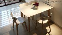 Bàn ghế ăn giá rẻ - hiện đại | Bộ Moontrap W-4 | tại Nghĩa Furniture Hà Nội