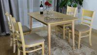 Bàn ghế gỗ phòng ăn giá rẻ - Bộ Mostar N1-4