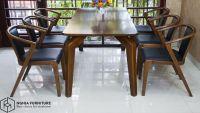 Mẫu bàn ăn đẹp bằng gỗ , sang trọng |Bộ bàn ăn 901-3382