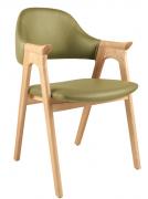 Ghế HF-2106 gỗ sồi Nga cao cấp xanh lá
