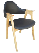 Ghế HF-2106 gỗ sồi Nga cao cấp nâu ghi