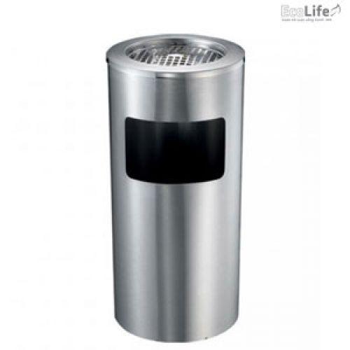Thùng rác inox có gạt tàn ECO123
