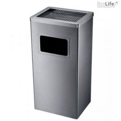 Thùng rác inox có gạt tàn ECO116