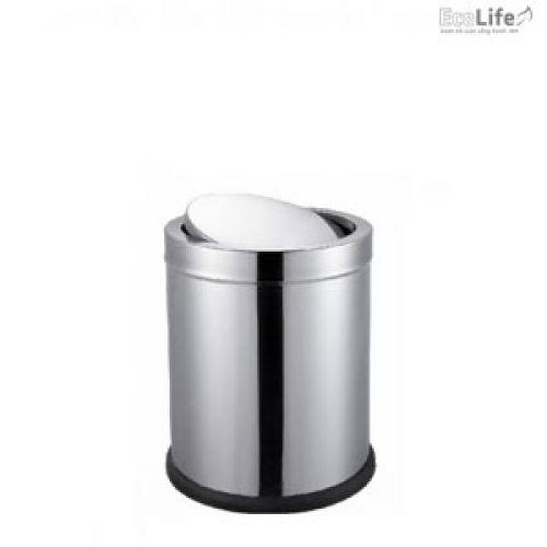 Thùng rác inox nắp lật ECO124