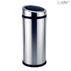 Thùng rác inox nắp nhựa chéo ECO112
