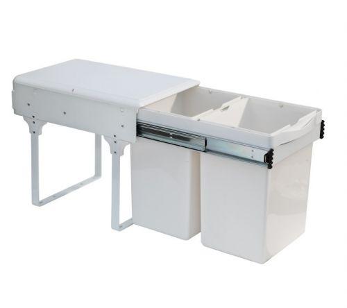 Thùng rác inox tủ bếp âm day kéo ECO B04