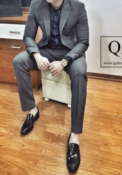 Suit CRAZIM Ghi Đậm