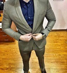 Suit CRAZIM Ghi Sáng VT