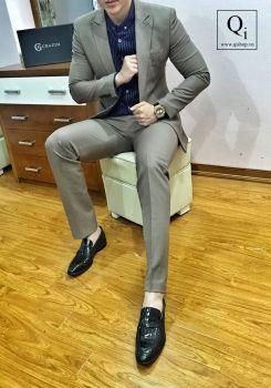 Suit CRAZIM Ghi Sáng