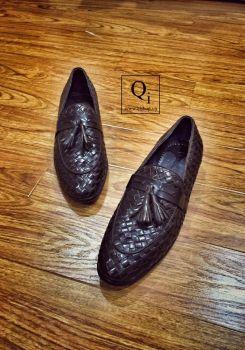 Giày da CRAZIM Nâu Đan Chuông