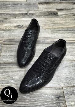 Giày da CRAZIM Rắn Hết Đen