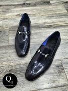 Giày da CRAZIM E9057-11 ánh xanh
