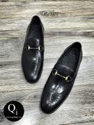 Giày da CRAZIM E9057-11 ánh đen