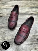 Giày da CRAZIM Y30201C đỏ
