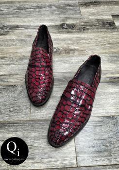 Giày da CRAZIM 52260C đỏ