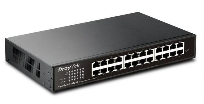 24 Port Gigabit Smart Switch DrayTek VigorSwitch G1241