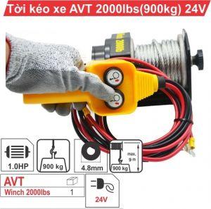Tời điện kéo xe ATV 2000LBS -24V