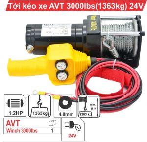 Tời điện kéo xe ATV 3000LBS -24V