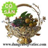Giỏ trưng bày trái cây mạ vàng 0014