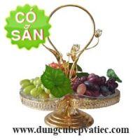 Giỏ đựng trái cây 3 lá thủy tinh 0101