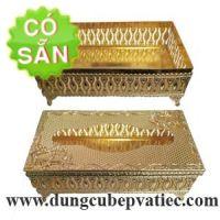 Hộp khăn giấy mạ vàng cao cấp