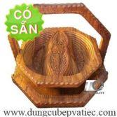 Khay xếp đựng bánh mứt 2 ngăn bằng gỗ KG2B-35-DG