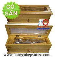 Hộp đựng đũa ngăn kéo bằng gỗ