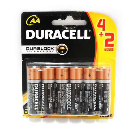 PIN DURACELL MN1500 - LR6-AA6 (4+2)