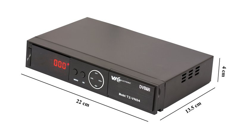 Đầu Thu Truyền Hình Kỹ Thuật Số Mặt Đất DVB-T2 VN04 VIC Electronic - Dau004