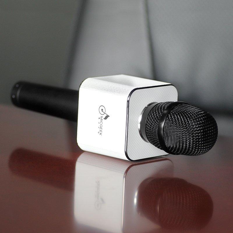 Micro karaoke bluetooth Micgeek Q9 (Vàng)