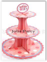 Giá để cupcake bằng bìa - birthday girl