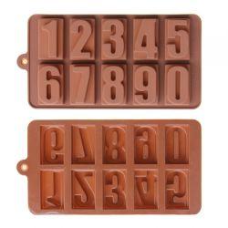 Khuôn Silicone Chocolate Hình Số ( 20.6x11.2x1.9 cm)