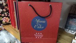 bộ hộp túi trung thu 4 bánh moon đỏ
