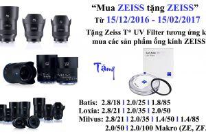 Mua Ống Kính Zeiss Tặng Filter Zeiss