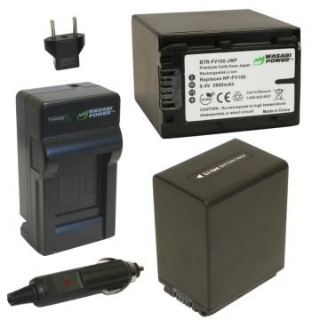 Bộ 1 sạc 2 pin Wasabi for Sony FV100