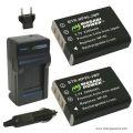 Bộ 1 sạc 2 pin Wasabi for Fujifilm NP95