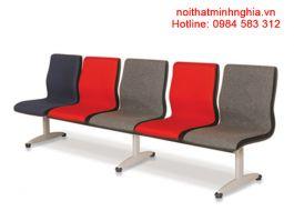Ghế phòng chờ nội thất 190 GC03-5, một băng 2 chỗ, đệm mút bọc nỉ, chân sơn tĩnh điện