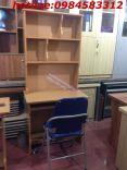 bàn học sinh kèm giá sách 80 màu vàng +ghế