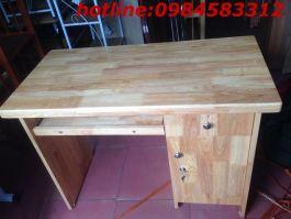 bàn vi tính 100 BVT100 gỗ cao su tự nhiên