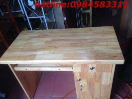 bàn vi tính 100 BVT100cm gỗ cao su tự nhiên